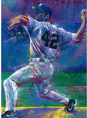 Mariano Rivera Bill Lopa 20x32 Poster Uns. 2001 World Series Mvp