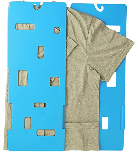 Easy Folder - MiracleFold Laundry Folder Clothes T-Shirts Pants Towels Organizer Fast Easy and Fun Time Saver (Blue)