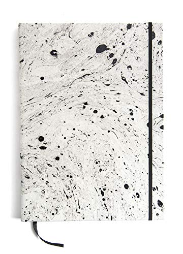 Printfresh - Large Leather Sketchbook - Blank Journal with Satin Bookmark and Elastic Closure (9