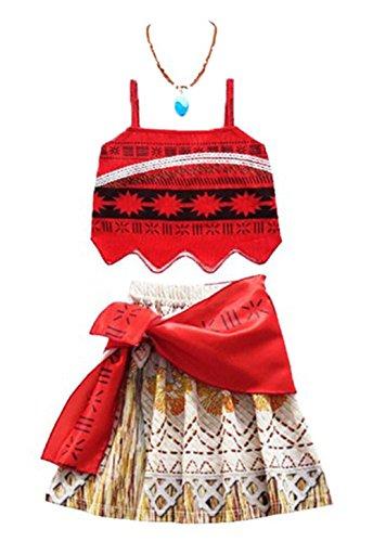 SuperheroCos Princess Moana Costume Skirt Set Little Girls Cosplay Dress Up]()