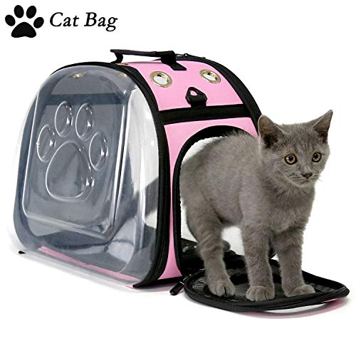 Lgendog Cat Dog Carrier, Foldable Large Cat Carrier, Fashion Breathable Pet Carrier for Cats Small Dogs, CatAirlineApprovedCarrier, Cat Travel Carrier for Women