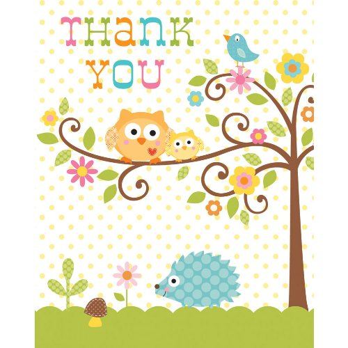 8-Count Thank You Notes, Happi Tree Sweet Baby ()