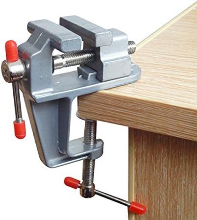 Wildlead Mini Tisch Vice Aluminiumlegierung Bench Schraube Schraubstock f/ür DIY Schmuck Handwerk Form Fixed Repair Tool