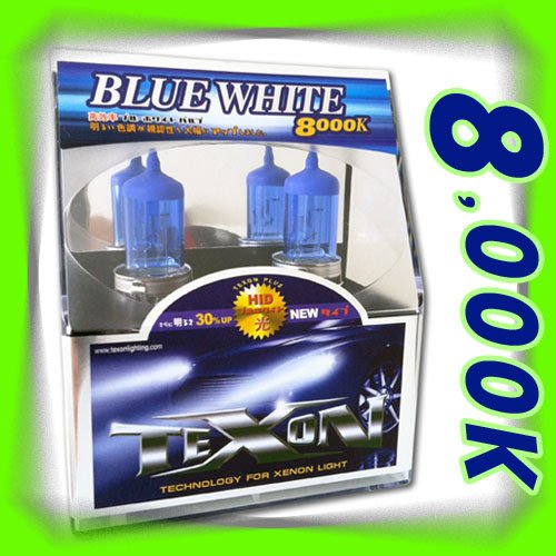 TEXON Halogen 8000K HID XENON Blue-White Bulbs H7, 12V 55W