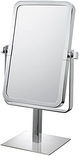 Mirror Image 80643 Rectangular Vanity Mirror, 1X and 3X Magnification, Chrome