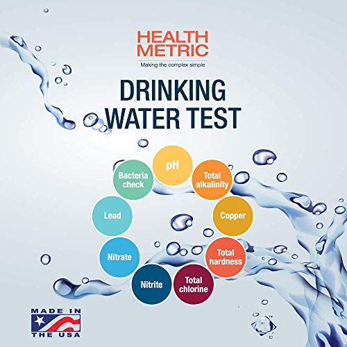 Bacteria Tap Water - Drinking Water Test Kit For Municipal Tap and Well Water - Simple Testing Strips For Lead Copper Bacteria, Nitrates, Chlorine and More