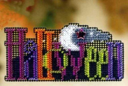 Halloween - Fridge Magnet - Cross Stitch Kit]()