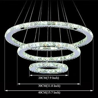LightInTheBox LED Crystal Chandelier Lights Lighting L&s Transparent Crystal Round 3 Rings 110-120V Cold White & LightInTheBox LED Crystal Chandelier Lights Lighting Lamps ... azcodes.com