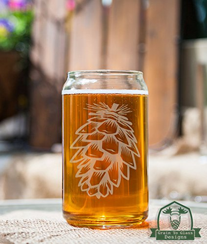 Pinecone Beer Can Glass Gift (Glassware Etched With Pine Cones compare prices)
