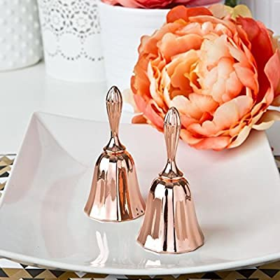 50 Rose Gold Metal Kissing Bell Or Wedding Bell