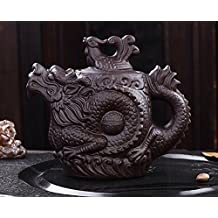 Authentic Yixing Teapot Dragon and Phoenix Tea Pot Big Capacity Purple Clay Tea Set Kettle Kung Fu Teapot