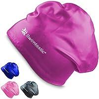 Swimtastic® Long Hair Swim Cap - Specially Designed for...