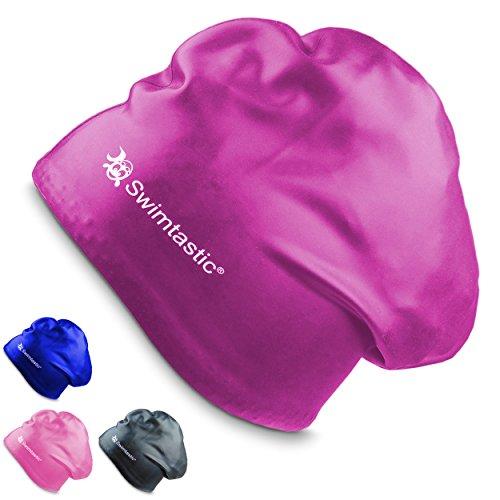 Swimtastic Long Hair Swim Cap - Purple