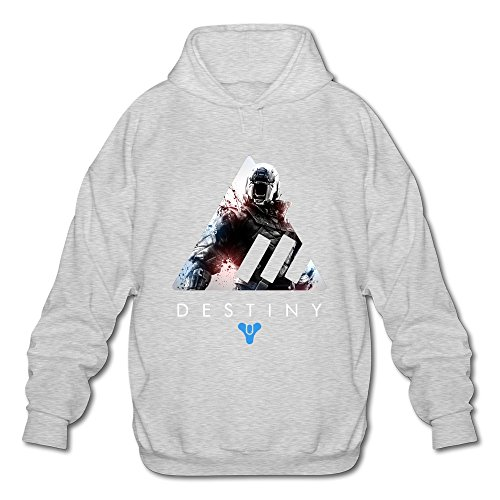 AOPO Destiny Men's Long Sleeve Hooded Sweatshirt / Hoodie XX-Large Ash - Costume Quest Xbox 360