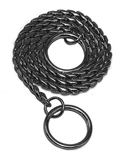Petcircle Snake P Choke Chain Training Dog Choke Collars-Heavy Duty for Small Medium Large Dog (Blk Snake)