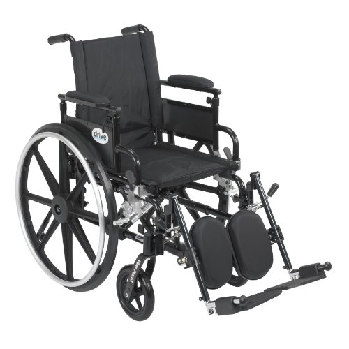 Viper Plus GT Wheelchair with Flip Back Removable Adjustable Desk Arms, Elevating Leg Rests, 20