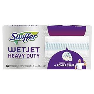 Swiffer WetJet Hardwood Floor Cleaner Spray Mop Pad Refill, Heavy Duty, 14 Count