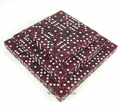 Purple Standard Glitter Dice d6 (Six Sided) 16mm (5/8in) Pack of 200 Dice Koplow Games by Koplow Games