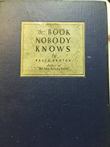 Hardcover The Book Nobody Knows Book