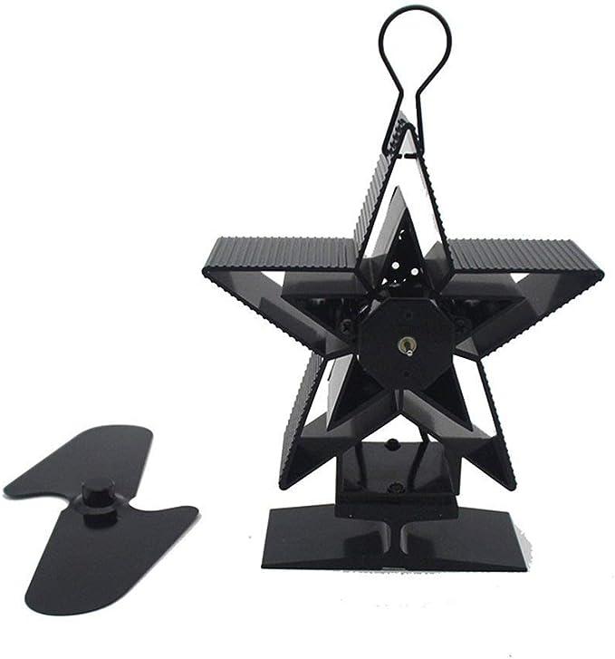 WW Mini Ventilador Chimenea Leña Top Navidad ventilador de regalo 2 ventilador térmico estufa de leña hoja, las aspas del ventilador for el calor chimenea estufa de leña: Amazon.es: Bricolaje y herramientas