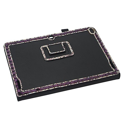 - KAKA(TM 3D Handmade Rhinestone Crystal PU Leather Stand Folding Protective Tablet Case Cover For Acer Iconia Tab 10 A3-A20 10inch Black