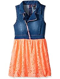 Limited Too Girls' Stretch Sateen Moto Denim and Flowing...