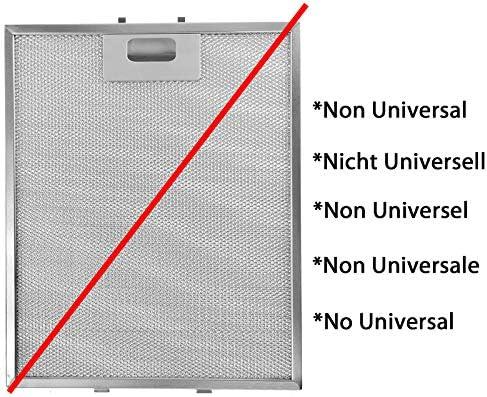 no universal, Pack de 3 filtros, plata, 318 x 258 mm SPARES2GO marcos de filtros de metal para extractor de recreo//ventilaci/ón campana
