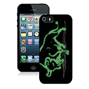 Popular And Unique Custom Designed Case For iPhone 5 5S With NCAA American Athletic Conference AAC Football South Florida Bulls 2 Black Phone Case