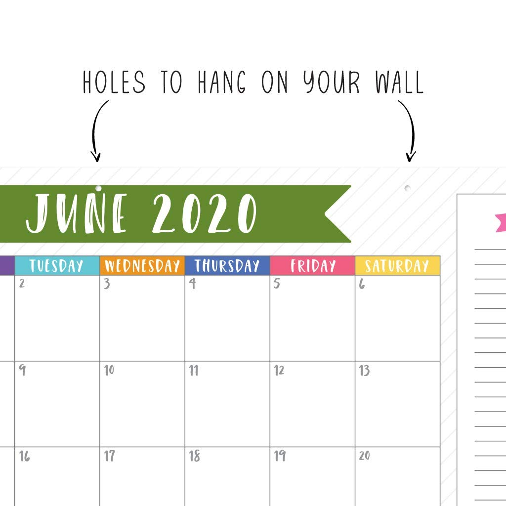 Amazon Com Cute 2019 2020 Large Monthly Desk Or Wall Calendar
