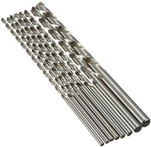 1Pc Silver Twist Drill Bit 2//3//4//5//6//7//8//9//10mm HSS Steel Drill Bit Metal Drill Replacement 200mm For Drilling Best bit Color : 6MM
