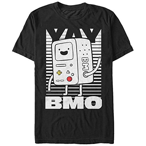 Adventure Time Men's Yay BMO Black T-Shirt (Fionna And Cake Shirt)