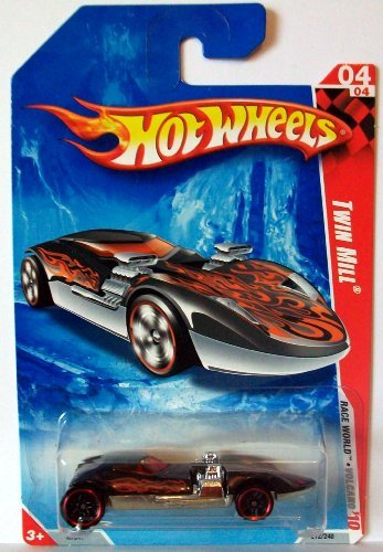 Hot Wheels Twin Mill (2010 Hot Wheels 04/04 Twin Mill, Black/Red 1:64)