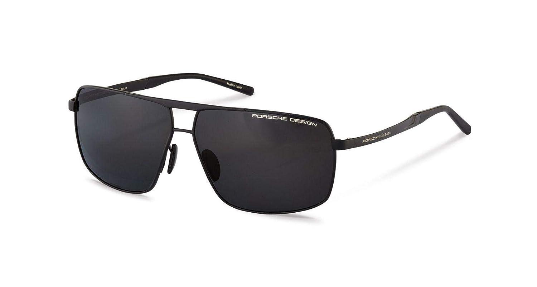 27e695d4d5f Amazon.com  Authentic Porsche Design P 8658 A Black Polarized Sunglasses   Clothing