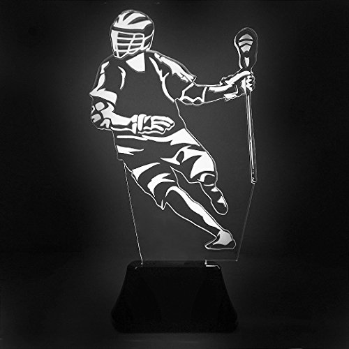 Lacrosse Desk - Lacrosse Player | Acrylic LED Guys Lacrosse Lamp by ChalkTalk SPORTS