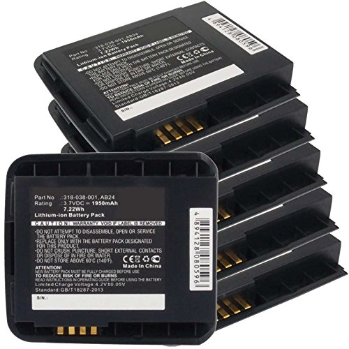 6x Exell EBS-CN50 Li-Ion 3.7V 1950mAh Batteries For Intermec CN50. Replaces Cameron Sino CS-ICN500BL, INTERMEC 318-038-001, AB24, CN50 by Exell Battery