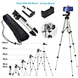 110cm Portable Camera Tripod Stand Holder Adjustable Rotatable Retractable Aluminum Tripods Smartphones Mount for iPhone X 7 7 6s 6 SE Plus Samsung Galaxy S6 S7 LG G5 V20 Stylus Other Moblie Phone