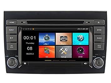 GPS DVD USB SD Bluetooth Radio 2 Din navegador Fiat Bravo 2007, 2008, 2009, 2010, 2011, 2012, 2013, 2014: Amazon.es: Electrónica