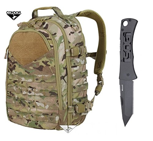 Condor Frontier Outdoor Pack with MultiCam + FREE SOG Micron II Knife by Condor Outdoor