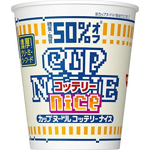 닛신 컵 누들 《곳테리나이스》 농후!크리미 씨푸드 56g×12개