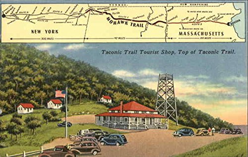 Taconic Trail Tourist Shop, Top of Taconic Trail Adams, Massachusetts Original Vintage Postcard