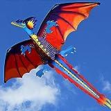 AMLJM New 3D Dragon Kite with Tail Kites for Adult Kites Flying Outdoor Kite Line kite kites for kids kites octopus kite kites for adults kites