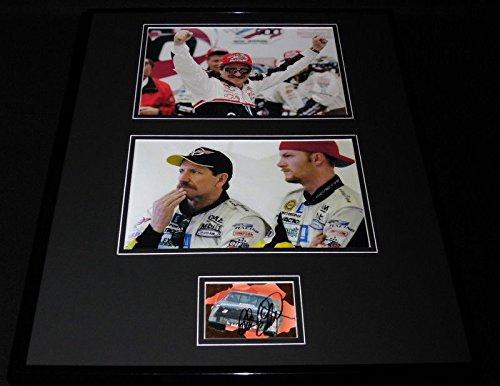 Dale Earnhardt Sr Signed Framed 16x20 Photo Set JSA ()