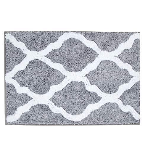 Pauwer Microfiber Bathroom Rugs Geometric, Non Slip Bath Rugs Floor Mat Machine Washable (18