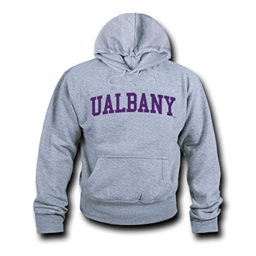W Republic Apparel Game Day Hoodie, Ualbany, Heather Grey, Small