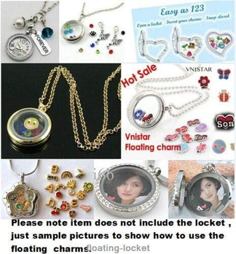 TM 10pcs Christmas Floating Charms for Glass Living Memory Locket FC1107 KuierShop