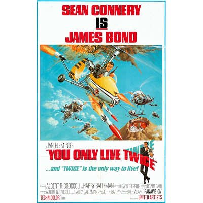 James Bond You Only Live Twice Poster 11x17