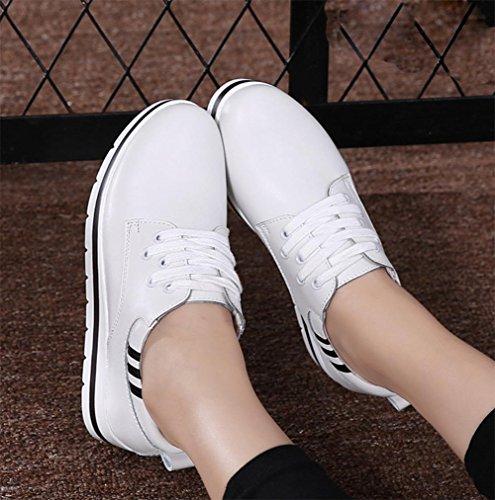 los zapatos del elevador Ms Spring mollete mujer calzado casual de fondo grueso de los estudiantes escogen los zapatos de las mujeres , US7.5 / EU38 / UK5.5 / CN38