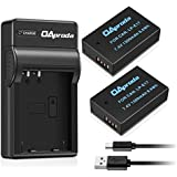 OAproda 2 Pack New Upgraded LP-E17 Battery and Ultra Slim Micro USB Charger for Canon LPE17, EOS M3, M5, M6, Rebel SL2, T6i, T6s, T7i, 200D, 77D, 760D, 750D, 8000D, 800D, KISS X8i Digital SLR Camera
