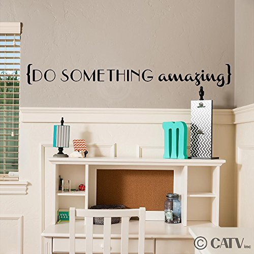 Lettering Sticker Decal Wall (Do Something Amazing Vinyl Lettering Wall Decal Sticker (4