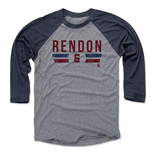 500 LEVEL Anthony Rendon Baseball Tee Shirt X-Large Navy/Heather Gray - Washington Baseball 3/4th Sleeve - Anthony Rendon Font R